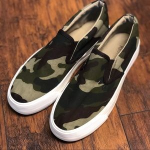 NWOT Restricted camo slip on sneakers